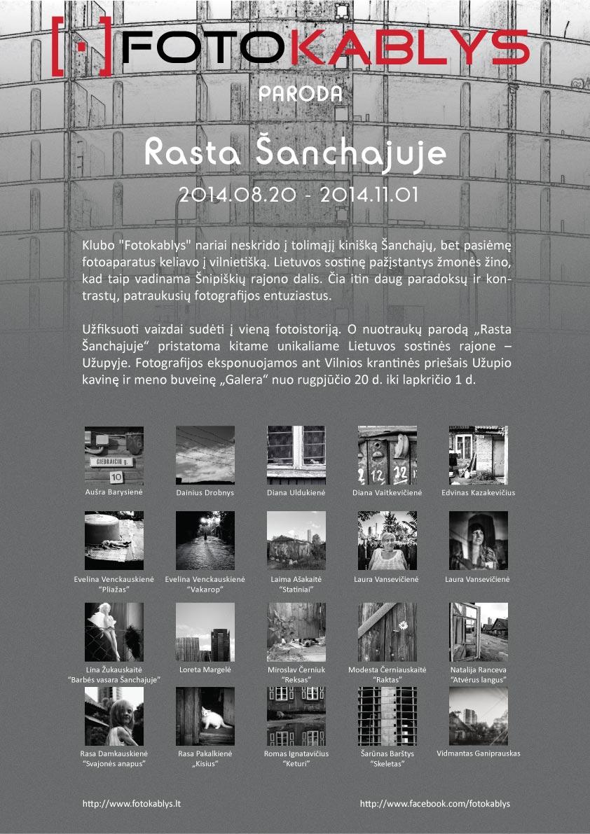 Rasta Šanchajuje plakatas